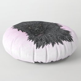 Black Pomeranian Floor Pillow