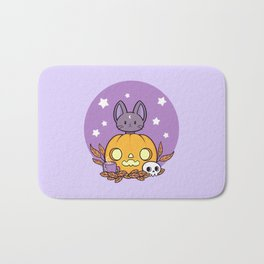 Pumpkin Cats Son Bath Mat