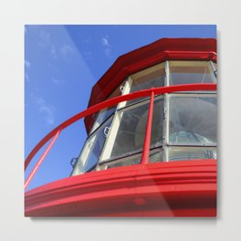 Red Light in the Sky Metal Print