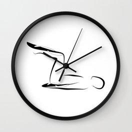 Abstract Pilates pose 15 Wall Clock