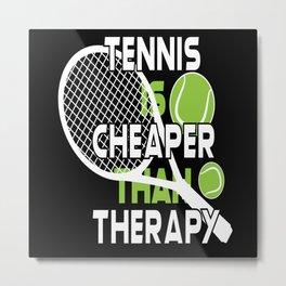 Tennis Tennis Rackets Tennis Balls Tennis Court Metal Print