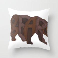 Bears Typography Throw Pillow