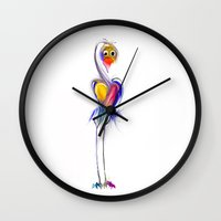 swan Wall Clocks featuring swan by tatiana-teni