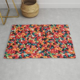 Vintage Jelly Bean Real Candy Pattern Rug