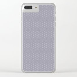 Pantone Lilac Gray Double Scallop Wave Pattern Clear iPhone Case
