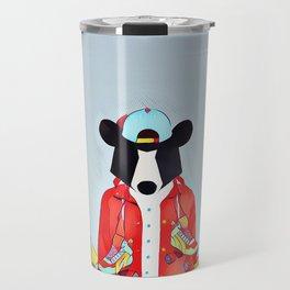 Bear in the skatepark Travel Mug