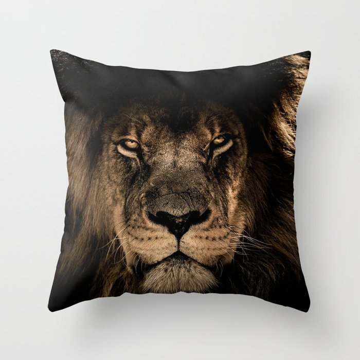 Lion Throw Pillow By Beliybro Society6
