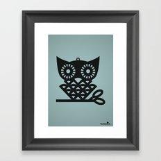 Blue Hoot Framed Art Print
