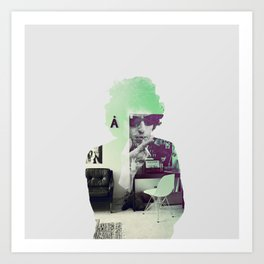 Bob Dylan Psychedelic Art Print