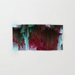 Amoeba - Abstract Glitchy Pixel Art Hand & Bath Towel