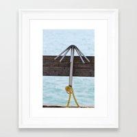 hook Framed Art Prints featuring Hook by Henrik Lehnerer