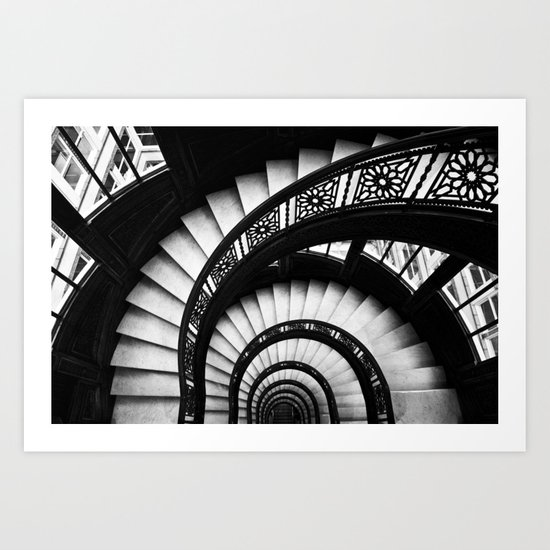 The Downward Spiral Art Print