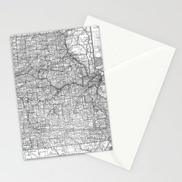 Vintage Map of Missouri (1891) BW Stationery Cards