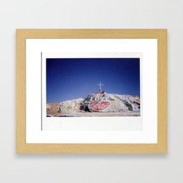 Salvation Mountain Cheki Framed Art Print