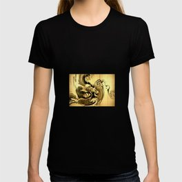 Dragon amid the waves by soga shohaku T-shirt