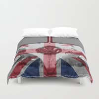 vw Duvet Covers featuring VW Rusty British by Alice Gosling