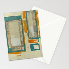 Mid Century Modern Blurred Abstract Stationery Cards