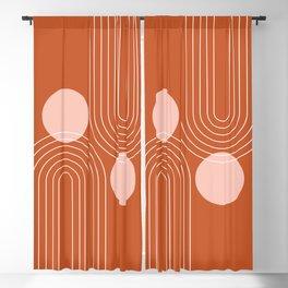 Mid Century Modern Geometric 64 (Rainbow and Sun Abstraction) Blackout Curtain