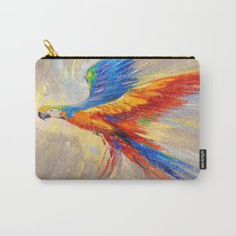 Parrot in flight Carry-All Pouch
