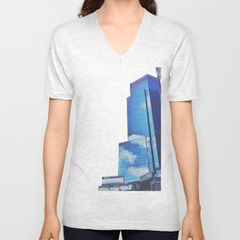 Mirrors show only sky Unisex V-Neck