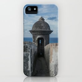 Fortification walls in Puerto Rico iPhone Case