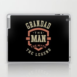 Grandad The Myth The Legend Laptop & iPad Skin