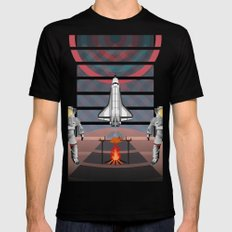 Space Tourism  Black Mens Fitted Tee MEDIUM