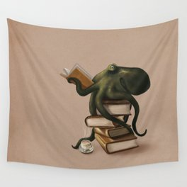 Well-Read Octopus Wall Tapestry