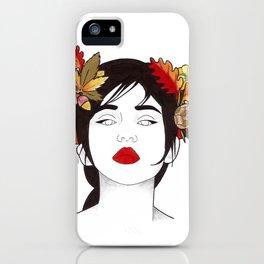Autumn woman  iPhone Case