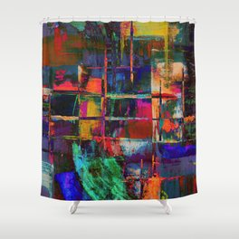 Canvas Abstract Deux Shower Curtain