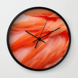Flamingo Feathers Wall Clock