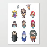 harry potter Canvas Prints featuring Wizards by Hello Quirky