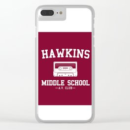 Hawkins Middle School AV Club Clear iPhone Case