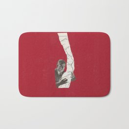 Torn Around — Red Map Bath Mat