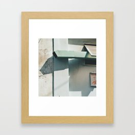 wall and chim ney Framed Art Print