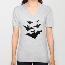 Cool cute Black Flying bats Halloween Unisex V-Neck