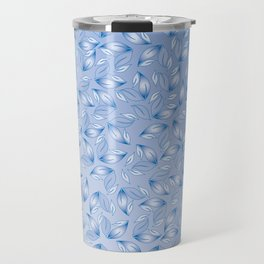 Electric Blue Leaves No.3 Travel Mug