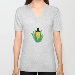 Thanksgiving Corncob Unisex V-Neck