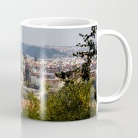 prague Mugs featuring Prague by Veronika
