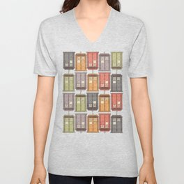 Assorted Police Boxes Unisex V-Neck