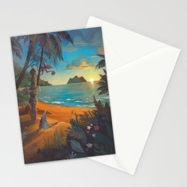 Retro Hawaii North Shore Travel Poster Stationery Cards