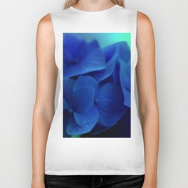 Bluest Blue Flower Biker Tank