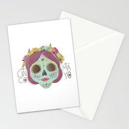 Cinco De Mayo Dead Lady Stationery Cards