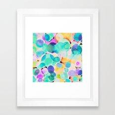 Polka Dot Ice Blue Framed Art Print