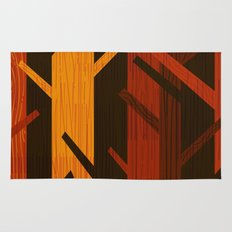 Retro Fall Woods by Friztin Rug