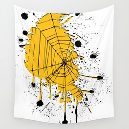Spiderweb spiders ink splash Wall Tapestry