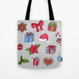 Christmas pattern (#1 grey) Tote Bag
