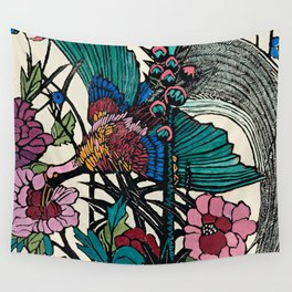 """""""Bird of Paradise"""" by Margaret Preston Wall Tapestry"""