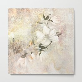 Magnolia Blossoms on a Branch Metal Print