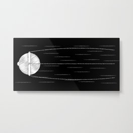Sputnik Chalk Drawing Metal Print